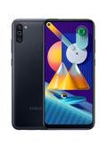هاتف جالاكسي M11 ثنائي الشريحة بلون أسود بذاكرة رام 3 جيجابايت وذاكرة داخلية سعة 32 جيجابايت ويدعم تقنية 4G LTE
