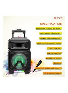 تسوق فليكسي ومكبر صوت على شكل حقيبة سفر بقدرة 8000 وات وتصميم عملي قابل  للشحن بوحدتي تشغيل صوت وميكروفون FTS1311TS أسود أونلاين في السعودية