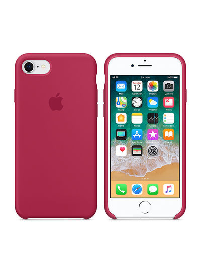 Silicone Case For iPhone 8/iPhone 7 Rose Red price in UAE   Noon ...